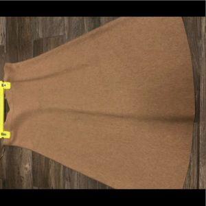 Banana republic aline skirt soft brown